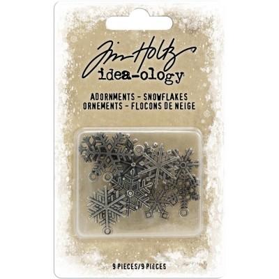 Tim Holtz - Idea-Ology «Antique Nickel Snowflakes» ensemble de 9 pièces