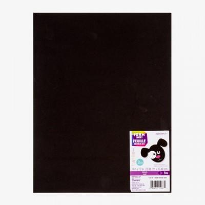 """Darice - Feuille en mousse noire 9""""X12"""" 2mm"""