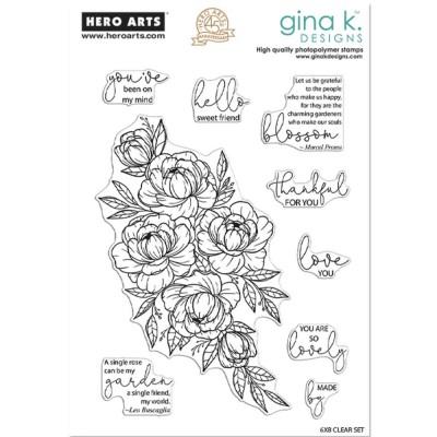 Gina K - Estampes claires  «Friendship Blooms» 9 pièces