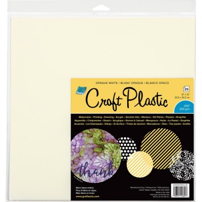 Grafix - Feuille «Plastic Craft» blanche 25 pcs
