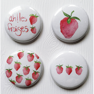 Lime Citron - badge 112 «Fraises»