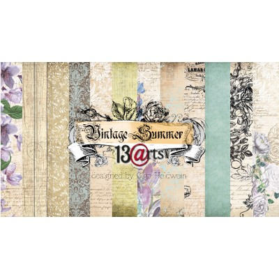 "13 Arts - Collection de papier 6 feuilles recto verso  12"" X 12"" Vintage Summer"