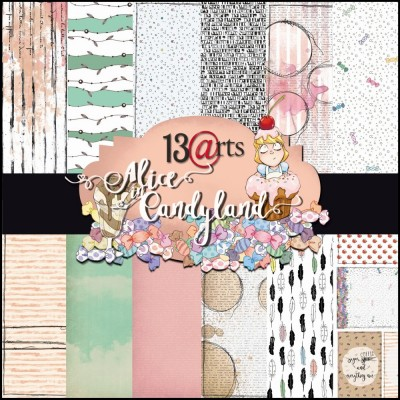 "13 Arts - Bloc de papier collection ""Alice in Candyland"""