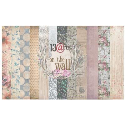 """13 Arts - Collection de papier  «On the wall» 6 feuilles recto verso  12"""" X 12"""""""