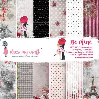 """Dress my craft - ensemble de papier recto «Be mine» 12"""" X 12"""""""