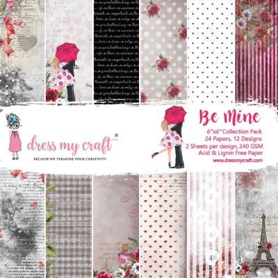 """Dress my craft - ensemble de papier recto «Be mine» 6"""" X 6"""""""