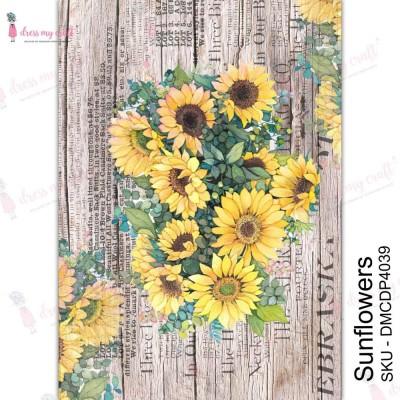 Dress my Craft - Transfer Me «Sunflowers»