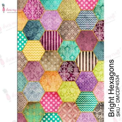 Dress my Craft - Transfer Me «Bright Hexagons»