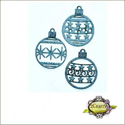 2 Crafty - Bauble Ornament Set