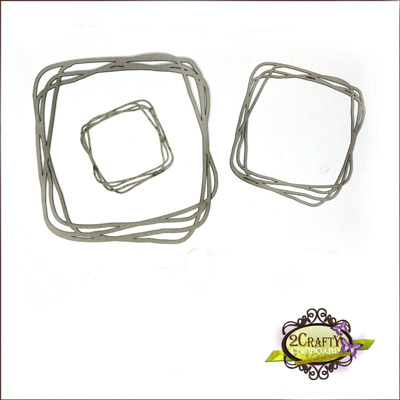 "2 Crafty - 6"" Messy Square Frames"