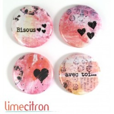 Lime Citron - badge 222 «Bisous»