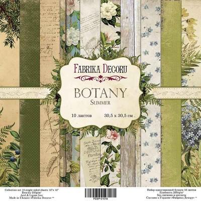 "Fabrika Decoru - Ensemble de papier «Botany» 12"" 10 feuilles / Pqt"
