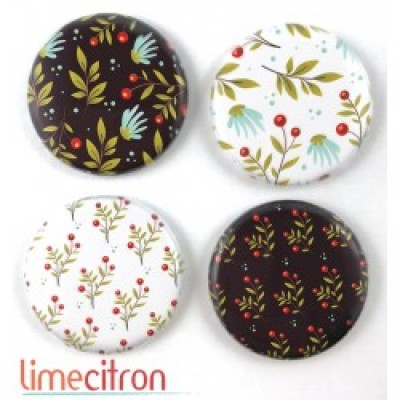 Lime Citron - badge 279 «Feuillages»