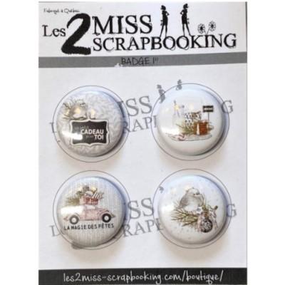 Les 2 miss scrapbooking - Badge «Kit Noël»