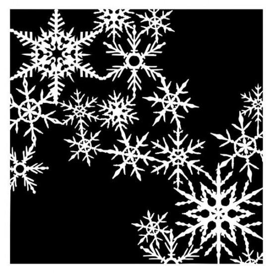 """13Arts - Stencil «It's snowing» 6"""" X 6"""""""