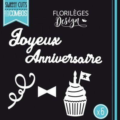 Florilèges Design - Outils De Découpe «Joyeux anniversaire» 5 pièces