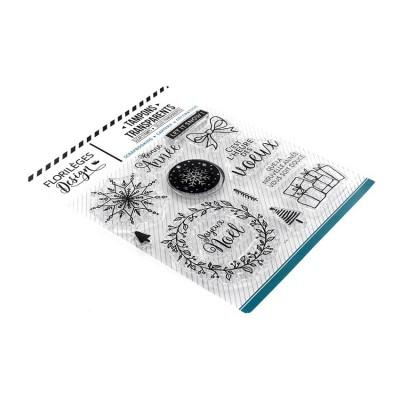Florilèges Design - Estampes claires  «Voeux enneigés» 13 pièces