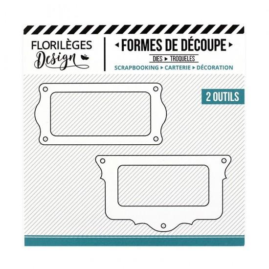Florilèges Design - Outils De Découpe «Porte-étiquette Festonnés» 2 pièces