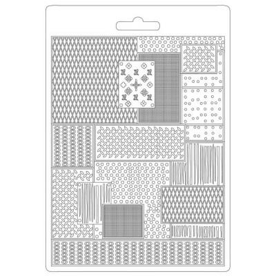 PRÉCOMMANDE- Stamperia - Moule «Soft Maxi» modèle  «Lady Vagabond Lifestyle/Metal Pattern»