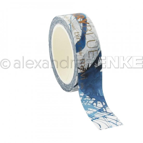 Alexandra Renke - Washi Tape couleur «Sherry Blue» 10m