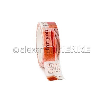 Alexandra Renke - Washi Tape couleur «Coral Red» 10m
