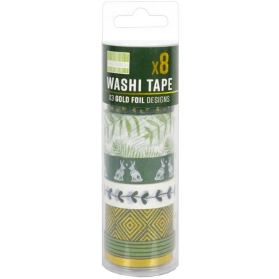 First Edition - Washi Tape vollecton «Kale» 8 rouleaux