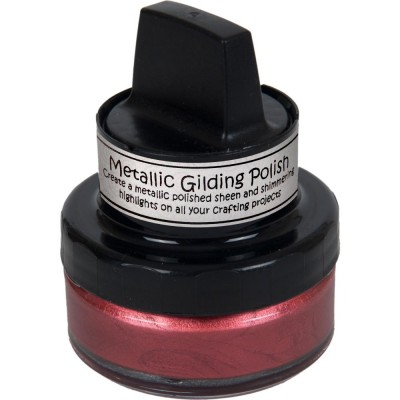 Cosmic Shimmer Metallic Gilding Polish - Pâte lisse métallique «Red Bronze» 50ml