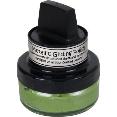 Cosmic Shimmer Metallic Gilding Polish - Pâte lisse métallique «Citrus Green» 50ml