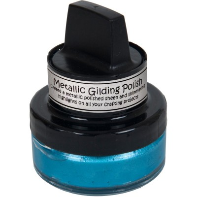 Cosmic Shimmer Metallic Gilding Polish - Pâte lisse métallique «Ocean Teal» 50ml
