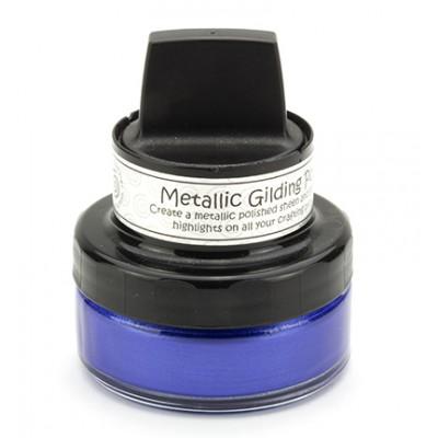 Cosmic Shimmer Metallic Gilding Polish - Pâte lisse métallique «Mediterranean Blue » 50ml