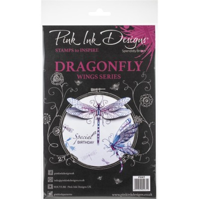 Pink Ink Designs - Estampe «Dragonfly» collection «Creative Expressions»