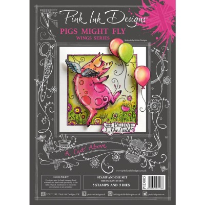 PRÉCOMMANDE- Pink Ink Designs - Ensemble «Pigs Might Fly» collection «Creative Expressions»
