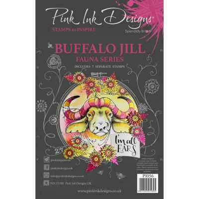 PRÉCOMMANDE- Pink Ink Designs - Estampe «Buffalo Jill» collection «Creative Expressions»