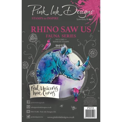 PRÉCOMMANDE-Pink Ink Designs - Estampe «Rhino Saw Us» collection «Creative Expressions»