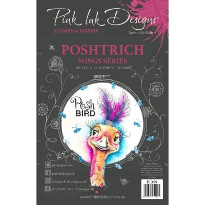 PRÉCOMMANDE- Pink Ink Designs - Estampe «Postrich» collection «Creative Expressions»