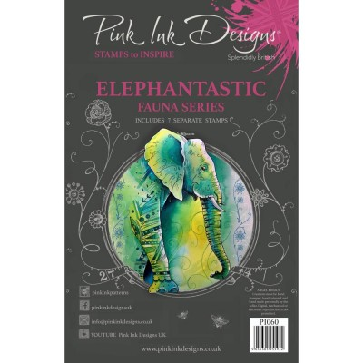 Pink Ink Designs - Estampe «Elephantastic» collection «Creative Expressions»