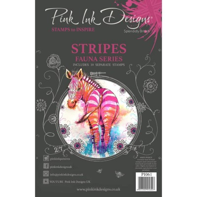 PRÉCOMMANDE- Pink Ink Designs - Estampe «Stripes» collection «Creative Expressions»