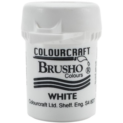 Colorfin - Brusho Crystal Colour 15g couleur Blanc