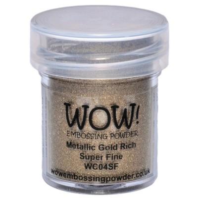 WOW! Poudre à embosser 15ml «Metallic Gold rich super fine»