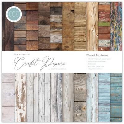 "Craft Consortium - «Wood Textures» paquet de papier  12"" X 12"""