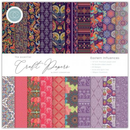 "Craft Consortium - «Eastern Influences» paquet de papier  12"" X 12"""