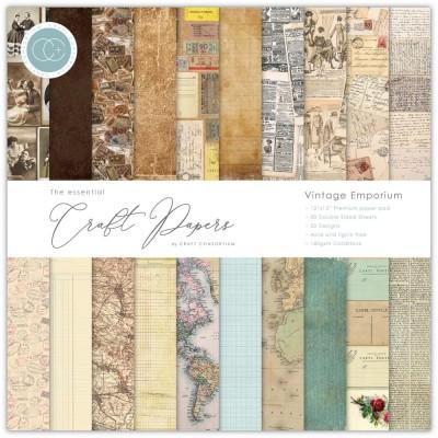 "Craft Consortium - «Vintage Emporium» paquet de papier  12"" X 12"""