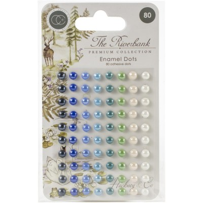 Craft Consortium - enamel dots autocollant «The Riverbank» 80 pièces