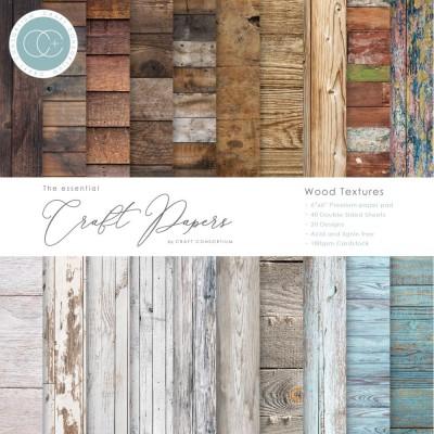"Craft Consortium - «Wood Textures» paquet de papier  6"" X 6"""