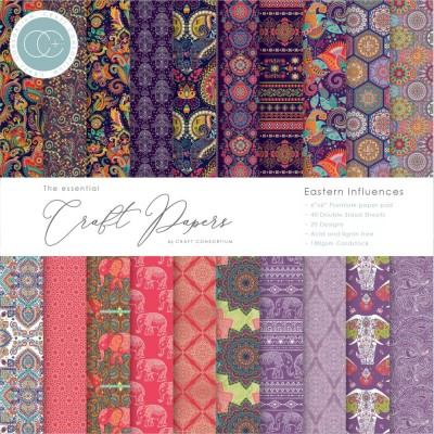 "Craft Consortium - «Eastern Influences» paquet de papier  6"" X 6"""