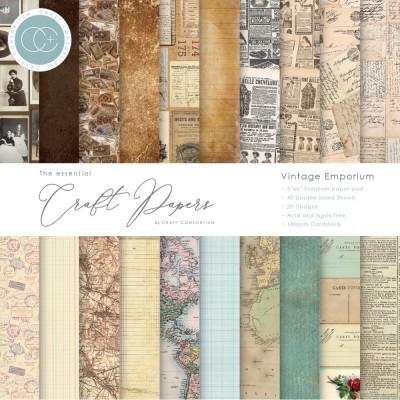 "Craft Consortium - «Vintage Emporium» paquet de papier  6"" X 6"""