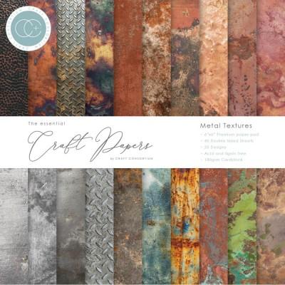 "Craft Consortium - «Metal Textures» paquet de papier  6"" X 6"""