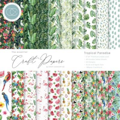 """Craft Consortium - «Tropical Paradise» paquet de papier  6"""" X 6"""""""