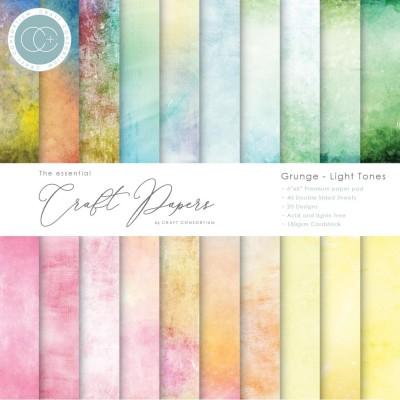 "Craft Consortium - «Grunge Light Tones» paquet de papier  6"" X 6"""