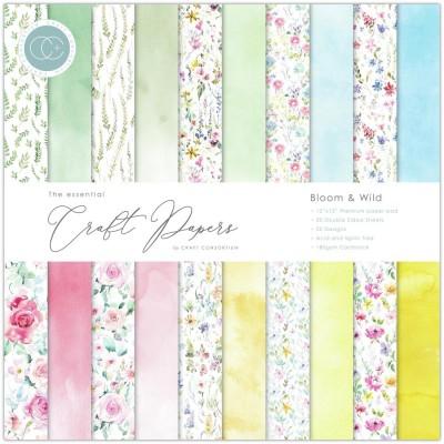 "Craft Consortium - «Bloom & Wild» paquet de papier  12"" X 12"""